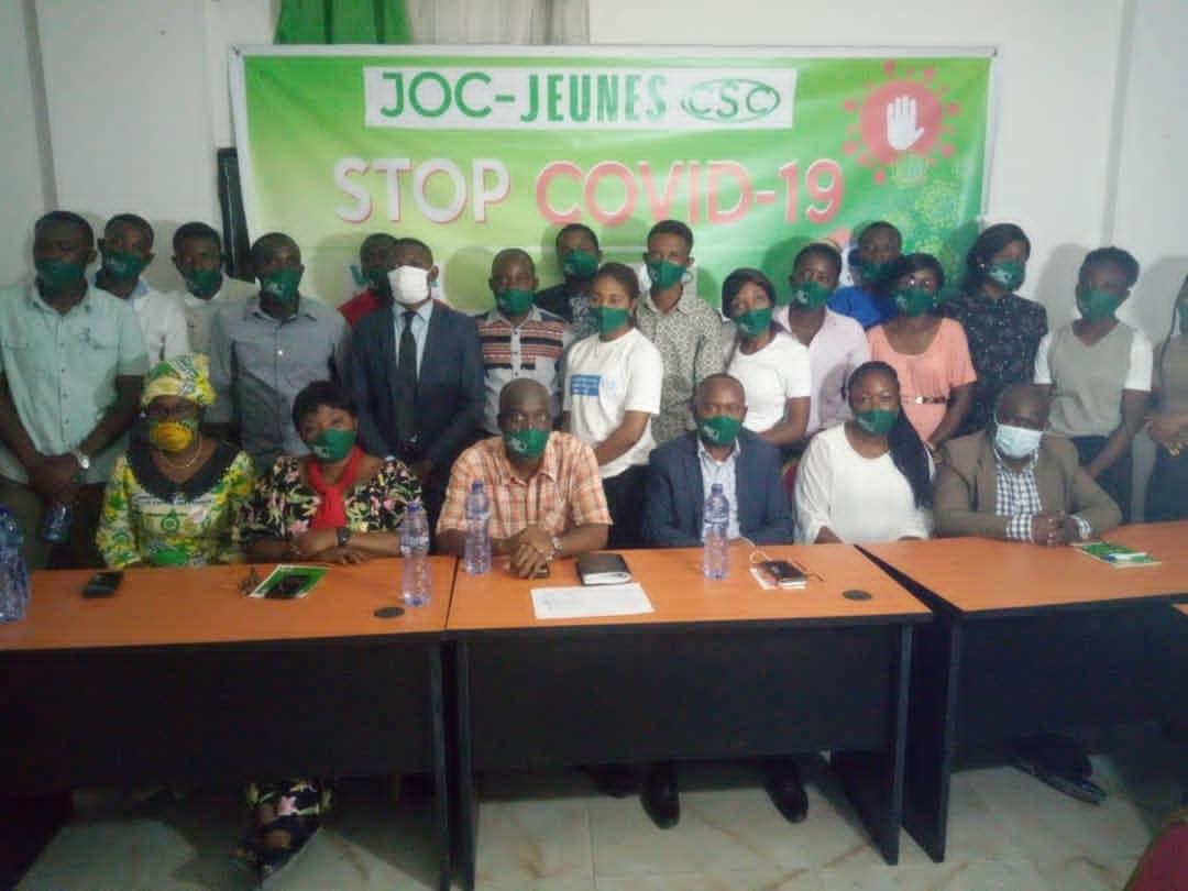 Lutte contre la Covid-19 en RDC : Les jeunes de la CSC et ceux de la jeunesse ouvrière chrétienne lancent les activités de sensibilisation populaire