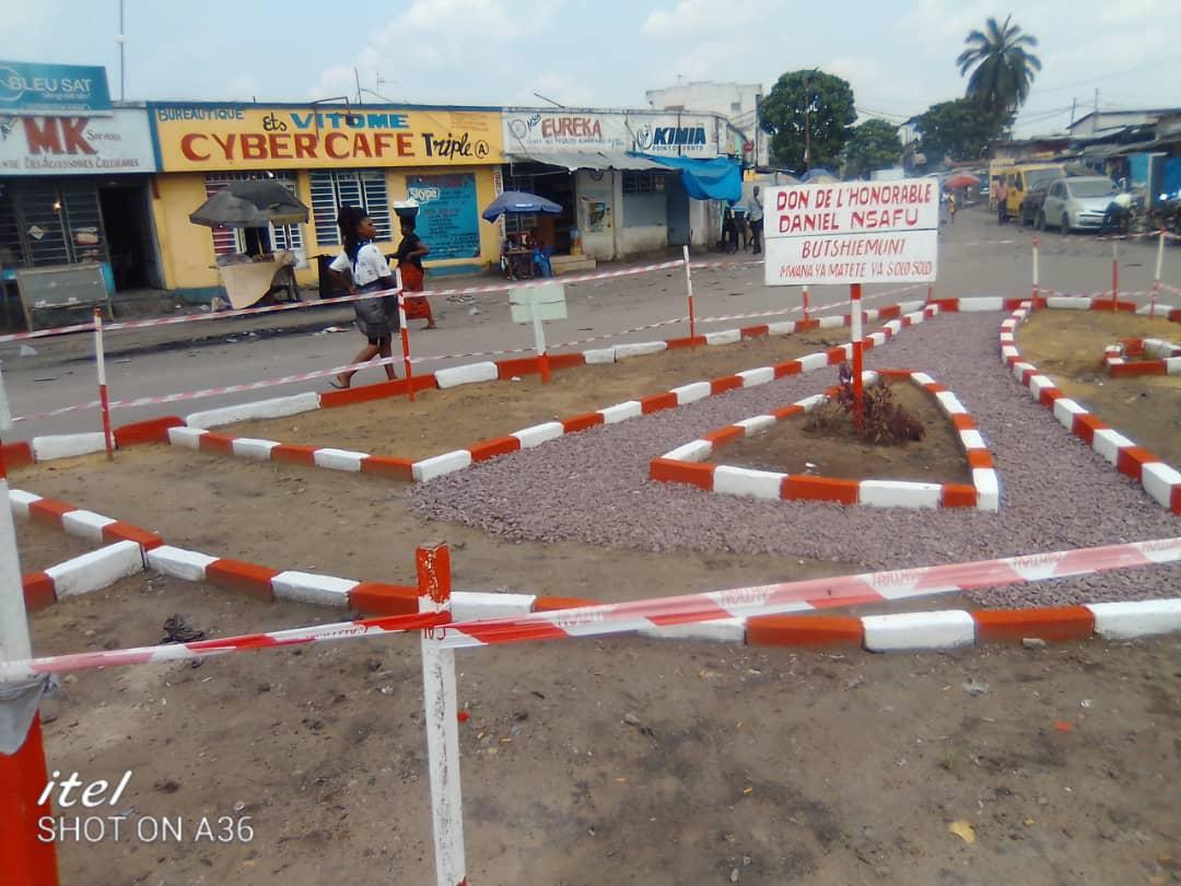 Kinshasa/Environnement : l'Honorable Daniel Safu rehabilite au goût du jour un carrefour à Matete