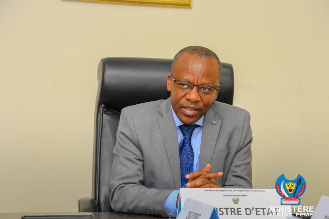 RDC-PME : Le Ministre d'État Eustache Muhanzi operationalise le Fonds de garantie pour le l'entrepreneuriat au Congo (FOGEC)