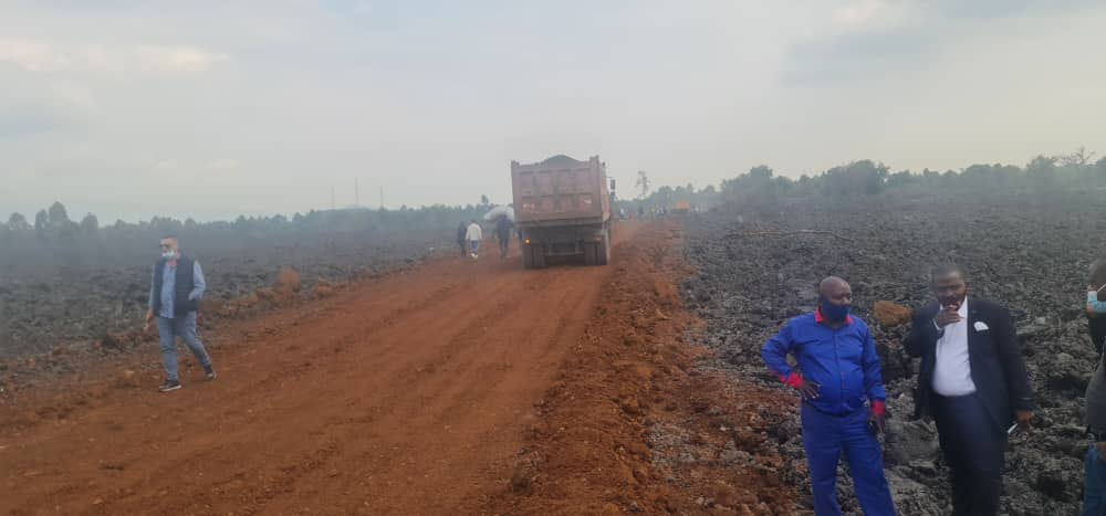Nord-Kivu : Les travaux de réouverture de la route Goma-Rutshuru sur la Rn2 évoluent très bien