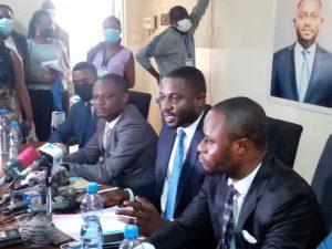 Course à la présidence de l'UNPC/Kinshasa : le candidat Jeff Kaleb casque 4000fc pour la presse