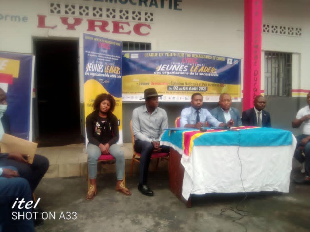 RDC : La LYREC lance du 02 au 04 Août une grande activité de sensibilisation des Jeunes axée sur «Jeune-Démocratie-Cohésion-Nationale et Paix en RDC»